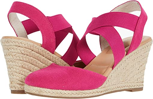 Fuchsia Canvas/Black/Natural Jute