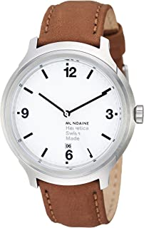 Mondaine Unisex  MH1.B1210.LG Helvetica No1 Bold Analog Quartz Brown Watch