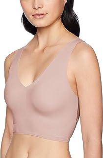 Calvin Klein Women's Invisibles Comfort Seamless Lightly Lined V Neck Bralette Bra