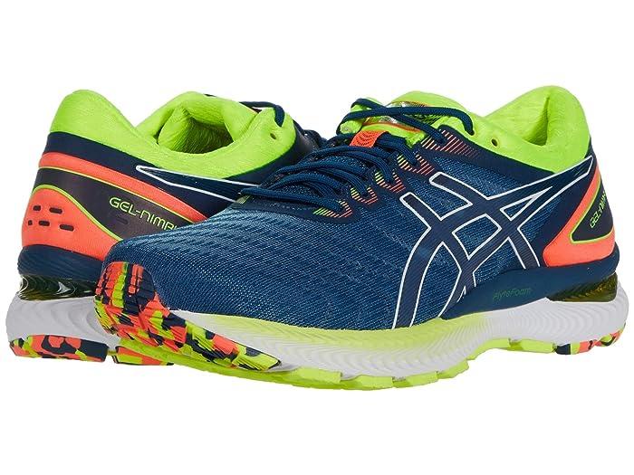 ASICS  GEL-Nimbus 22 (Mako Blue/Mako Blue) Mens Running Shoes