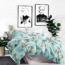 Carisder Pineapple Bedding Printed Duvet Cover Set Full/Queen Green Pattern Soft Duvet Comforter Cover Set(Queen, Green Pi...