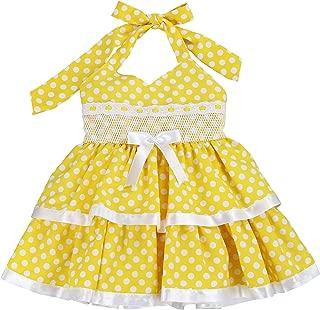 LELEFORKIDS - Toddlers and Girls (2T-7/8) Halter Fishing for Polka Dots Dress