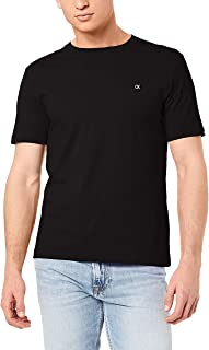 Calvin Klein Jeans Men's Ck Badge Embroidery Regular Tee, Ck Black, S