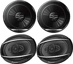 "Car Speaker Package: 1 Pair 6.5"" 300 Watts Max Power 2-Way Coaxial Car Speakers and 1 Pair 6x9 4-Way 450 Watts Max Power B... photo"