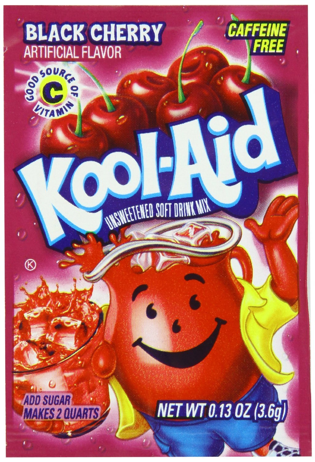 Kool-Aid Black Cherry Unsweetened Soft Drink Mix - 0.13 Ounce, 12 Pack