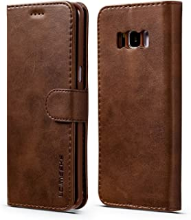 Protective Case Compatible with Samsung Compatible Samsung s8 Plus Leather Case, Mobile Phone Wallet Bag with Photo Frame 3 Card Holder Cases Compatible Galaxy s8 Plus Flip Cover Phone case