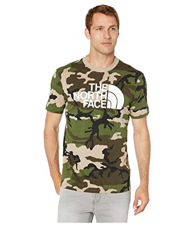 The North Face Short Sleeve Camo Half Dome T-Shirt (Dune Beige/Jeffrey Combo) Men
