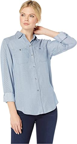 Yarn-Dye Tencel Long Sleeve Shirt