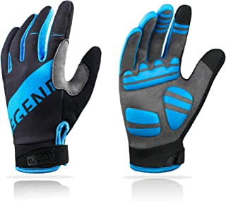 Aegend Adjustable Lightweight Cycling Gloves - Touch Screen, Anti-Slip Full Finger Mountain Bike Gloves - Breathable Sport...