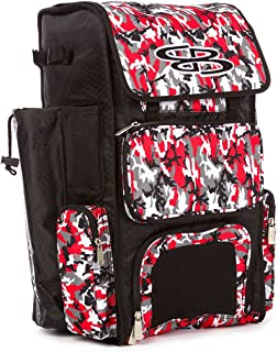 Boombah Superpack Bat Pack -Backpack Version (no Wheels) - Holds 2 Bats - Woodland Camo Series - 4 Color Options - for Baseball or Softball