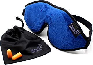 Dream Essentials Escape Luxury Travel and Sleep Mask with Earplugs and Carry Pouch, Navy