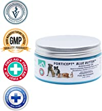 Forticept Blue Butter Antimicrobial Gel, Antiseptic Hydrogel Wound Treatment, Dogs & Cats for Hot Spots, Pyoderma, Skin Infections, Rashes, Sores, Wounds, Burns   8 OZ
