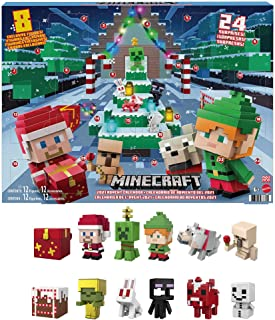 Minecraft Mini Figures 2021 Advent Calendar, One A Day Storytelling Fun with Minecraft Characters and Stickers, Holiday Ac...