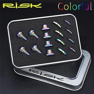 UT Cクリップブレーキブロックセット スクリューキット DAチタンナットワッシャー ロードバイク用, (Color : Multi-colored)