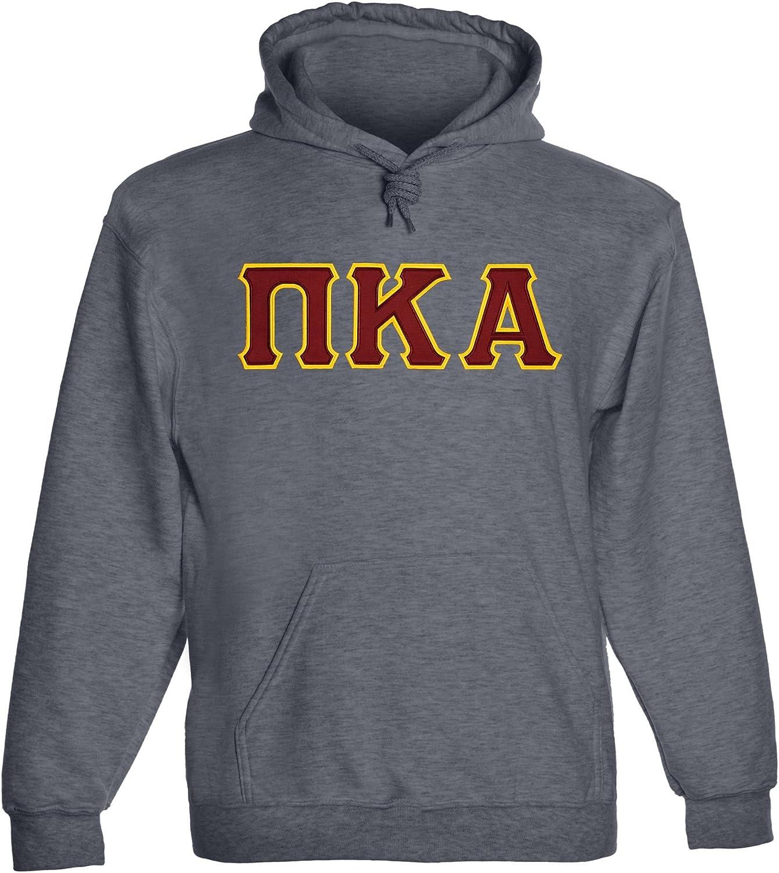 Fashion Greek Popular Pi Kappa Hoody lowest price Twill Alpha Letter
