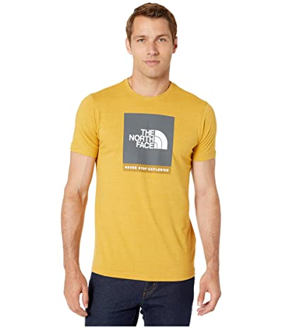 The North Face Short Sleeve Boxed Out Tri-Blend T-Shirt (Golden Spice Heather/Asphalt Grey) Men