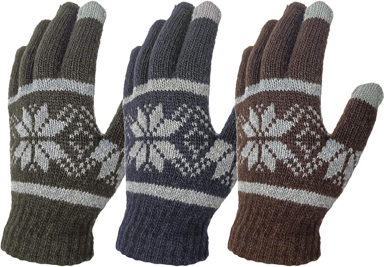Riverruns Winter Knit Gloves- Touchscreen Warm Gloves