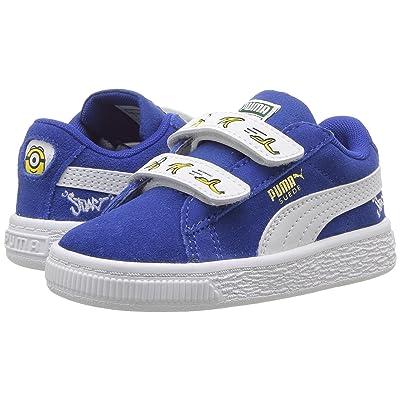 Puma Kids Minions Suede V (Toddler) (Olympian Blue/PUMA White) Kids Shoes