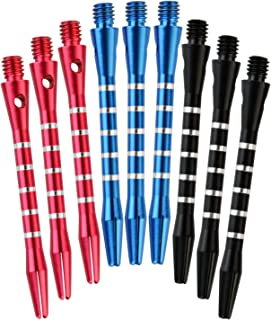 Outop Dxhycc 3 Sets/9pcs Aluminum Darts Shafts Harrows Dart Stems Throwing Fitting Medium
