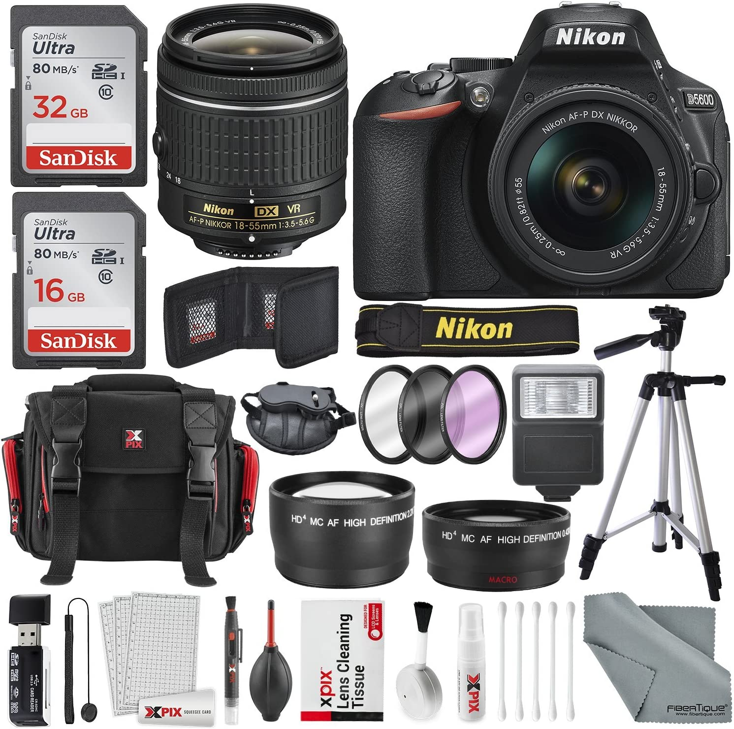 Nikon D5600 DSLR Camera And 18-55mm Lens Max 54% OFF Kit M of GB Total 48 W Cash special price