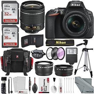 Nikon D5600 DSLR Camera And 18-55mm Lens Kit W/Total of 48 GB Memory Card + Telephoto & Wideangle Lens + Xpix Lens Handlin...