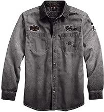 HARLEY-DAVIDSON Men's Iron Block Long-Sleeve Shirt, Grey