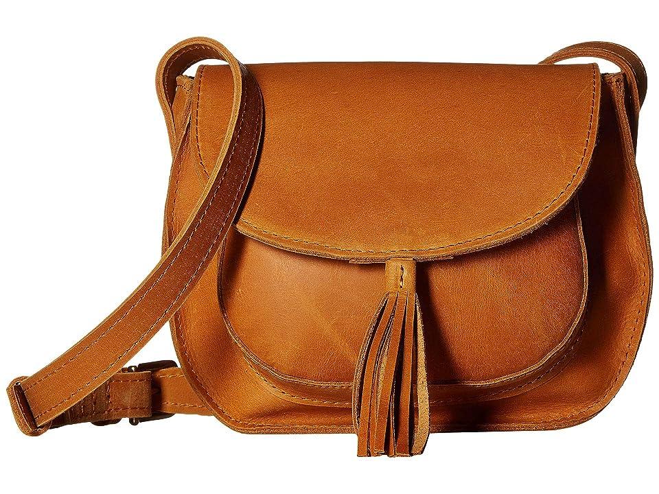 ABLE Maria Tassel Crossbody (Cognac) Shoulder Handbags