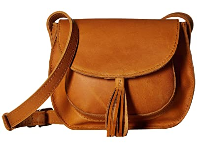 ABLE Maria Tassel Crossbody (Cognac) Shoulder Handbags