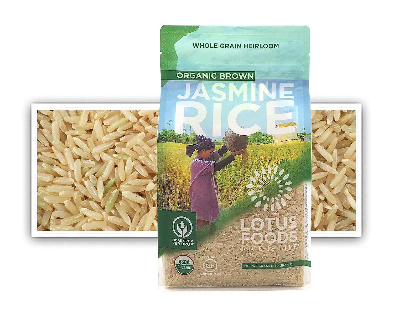 Lotus Foods Organic Brown Jasmine Rice, 30 Oz (6Count)