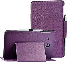 i-UniK Galaxy TAB E 8.0 inch Compatible SM-T377A/P/R/T/V Slim Folio CASE [Bonus Stylus] (Purple)