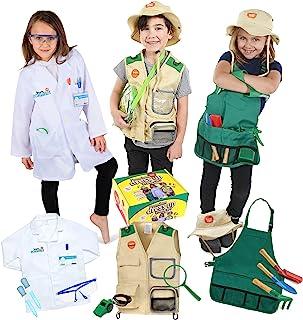 ملابس تلبيس بريميوم من بورن تويز للأطفال الذين تتراوح أعمارهم بين 3-7 سنوات - عالم - مستكشف للأطفال - جميع الأزياء تتضمن إ...