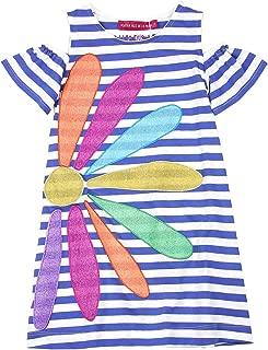 Girl's Striped Dress, Sizes 4-12