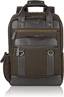 Solo Crosby 15.6 Inch Backpack with Padded Compartment, Espresso (Brown) - EXE735-3U2