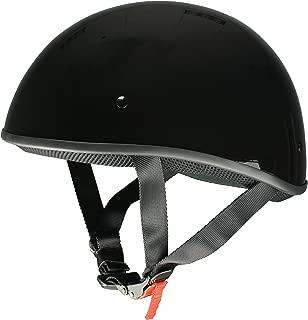 Milwaukee Performance Helmets Unisex-Adult Half Bare Bones Helmet (Shiny Black, X-Large)