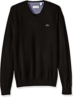 Men's Cotton Jersey V-Neck Sweater, AH0347-51