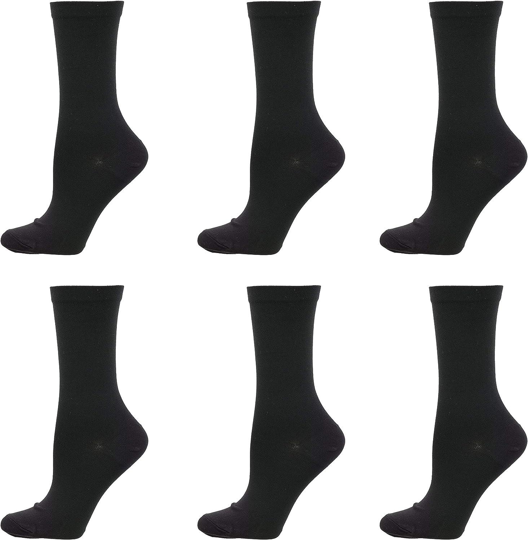 Renaissance Women's Nylon Trouser Socks (6pr), USA Made