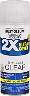 Rust-Oleum 327865 American Accents Spray Paint, 12 oz, Semi-Gloss Clear