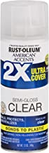 Rust-Oleum 327865 American Accents Spray Paint, 12 oz, Semi-Gloss Clear