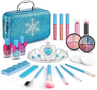 21pcs Kids Makeup Kit for Girls, Kids Play Washable Makeup Set Frozen Toys for Girls, First...