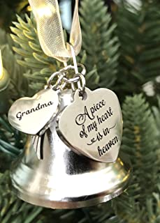 K9King Grandma A Piece of My Heart Angel Bell Christmas Ornaments for Lost Love One