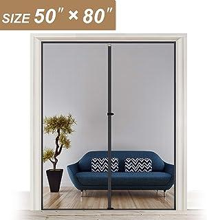 Reinforced Sewing Magnetic Screen Door Fits Door Size 50 x 80 for Sliding Glass Door and French Door, Fit Doors Size Up to 50
