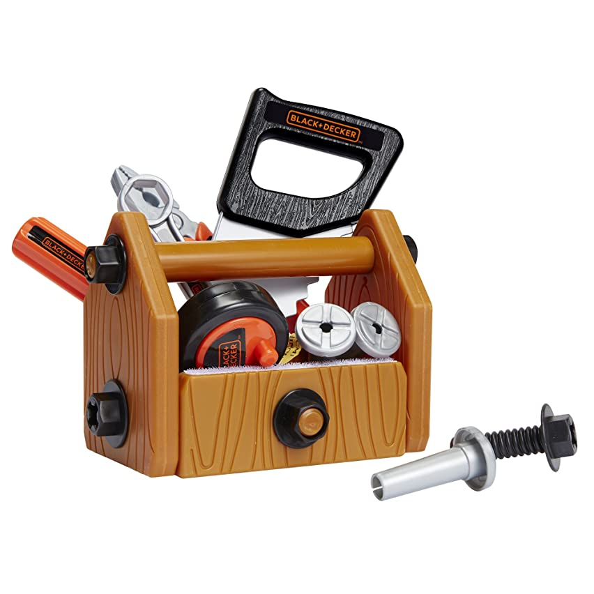 BLACK+DECKER Junior Kids Tool Set -Deluxe Tool Set with Tool Box with 42 Piece Tools & Accessories! Role Play Tools for Toddlers Boys & Girls Ages 3 Years Old and Above, Built Your Own Tool Box!
