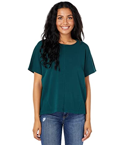 Lilla P Garment Dyed Terry Oversized Boxy Boatneck Tee