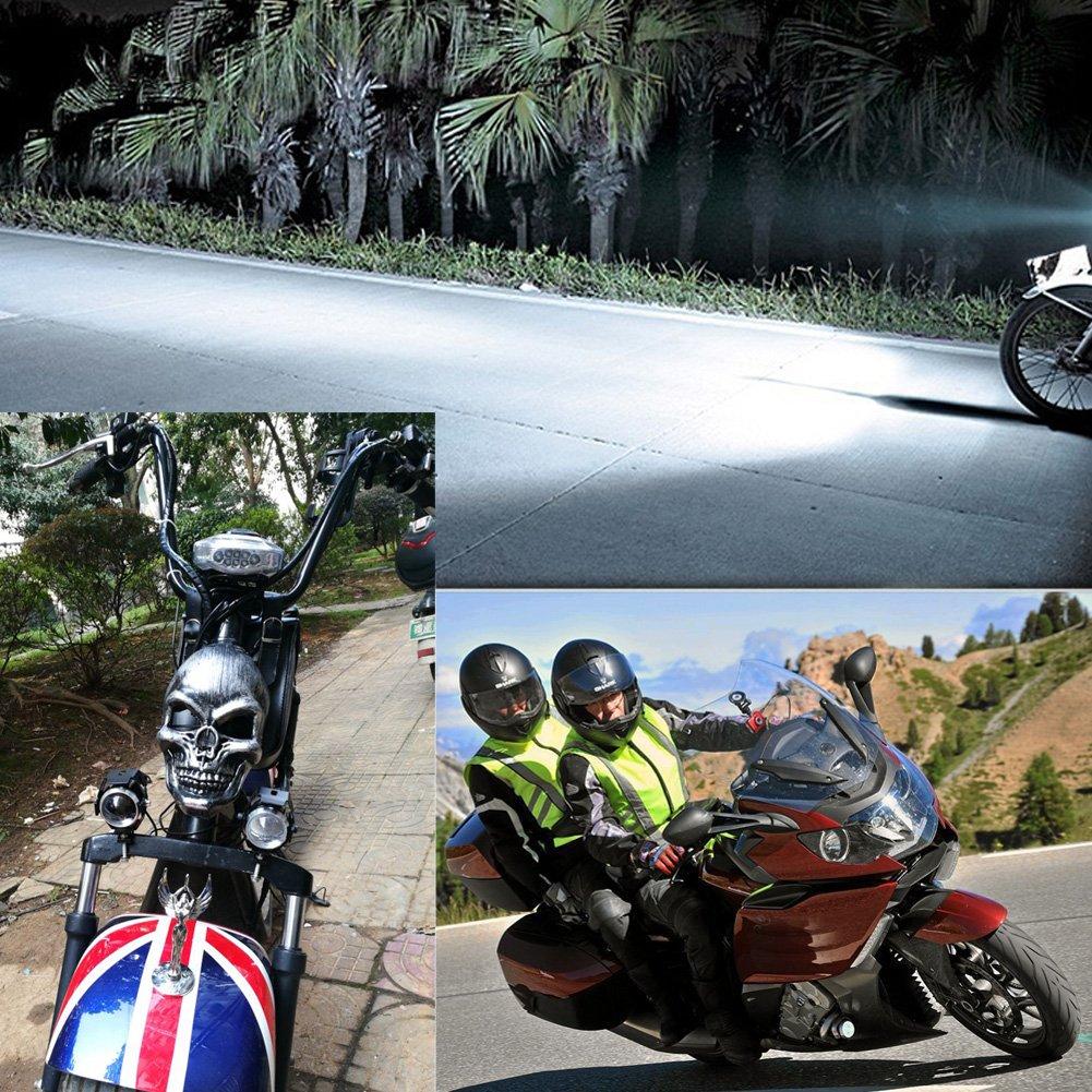 Motorcycle Headlight Moto Led Lights Motorbike Aluminum Lamp U5 12V Spotli B8W5