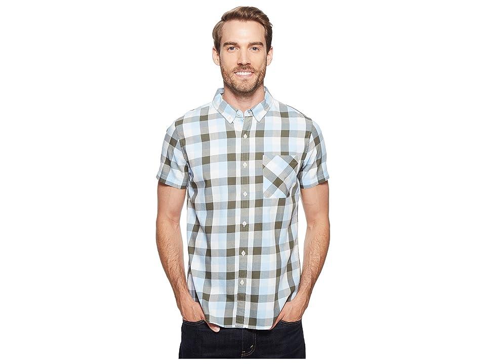 United By Blue Short Sleeve Everett Plaid Shirt (Green/Blue) Men