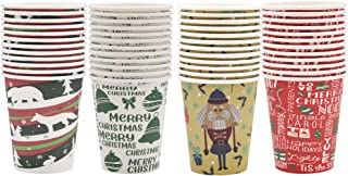 Christmas Disposable Cup Holiday supplies 48 count count 9-ounce paper coffee cups tea cups, Christmas Party drinkware