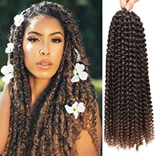 7 Pacs 18 Inch Passion Twist Hair Water Wave Braiding Hair Ombre Long Bohemian Braids for Passion Twist Crochet Hair Hot Water Setting Synthetic Natural Braid Hair (18 Inch, 1B-30) …