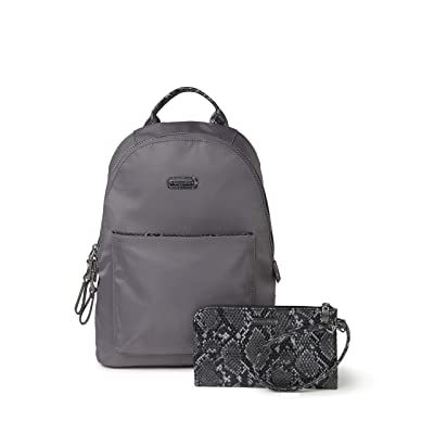 Baggallini Manhattan Central Park Backpack (Smoke/Faux Python) Backpack Bags