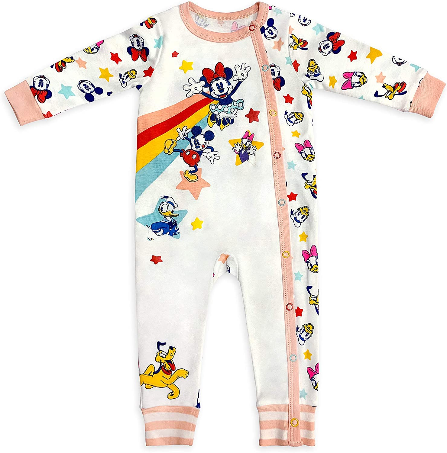 Disney Bombing free shipping Mickey Mouse and Friends Stretchie Size Baby service for Sleeper