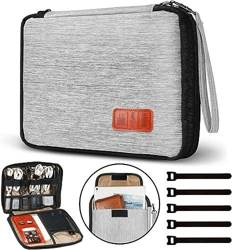 Gibot Câbles Organisateur de Sac Electroniques Portable Pochette Rangement Multifonctionnel Sac Organisateur de pour ...